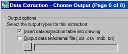 Data Extraction - Choose Output