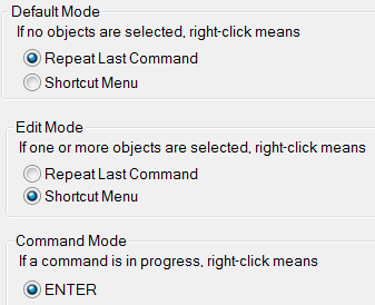 Mode selection