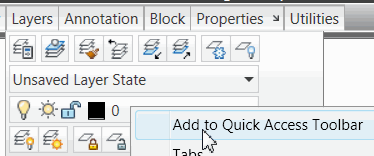 Add to Quick Access Toolbar
