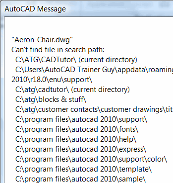 AutoCAD Message