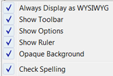 Always display as WYSIWYG