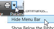 Turn off Menu Bar