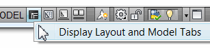 Display Model and Layout Tabs