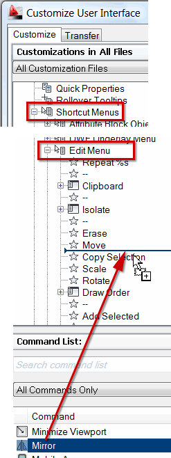Adding to the right-click menu