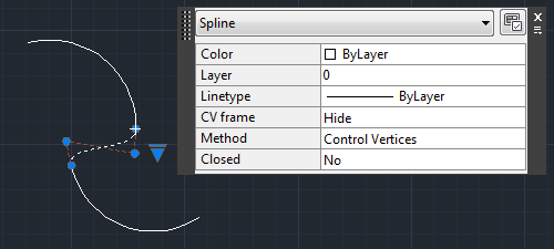 Editing the spline