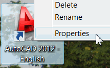 AutoCAD desktop icon