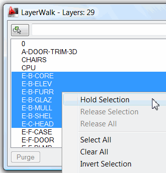Select the layers