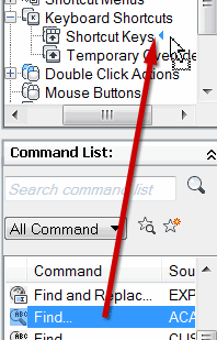 Drag to the Customizations pane