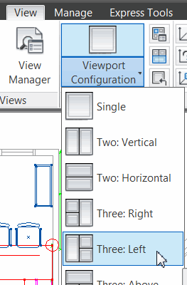 Selecting viewport configuration