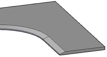 Solid object with a chamfer
