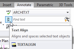 Align Text from the Ribbon