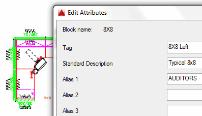 Edit attributes dialog