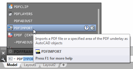 PDF Import from the command line