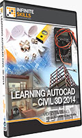 Learning AutoCAD Civil 3D 2014 Training DVD