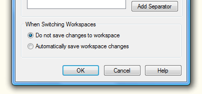 Do not save changes