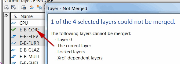 Layer not merged