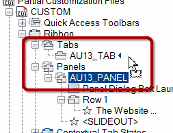 Panel to tab