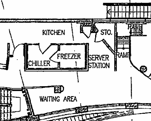 A scanned plan