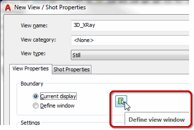 Define View Window