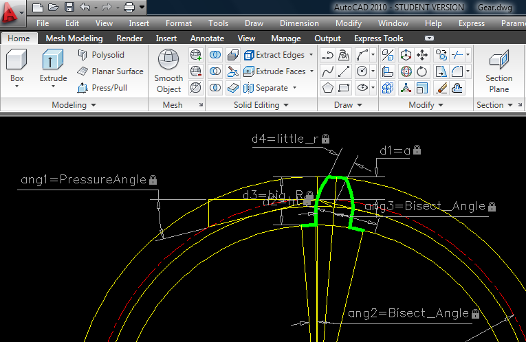 Bevel Gear Support Autocad Drawing - Autocad