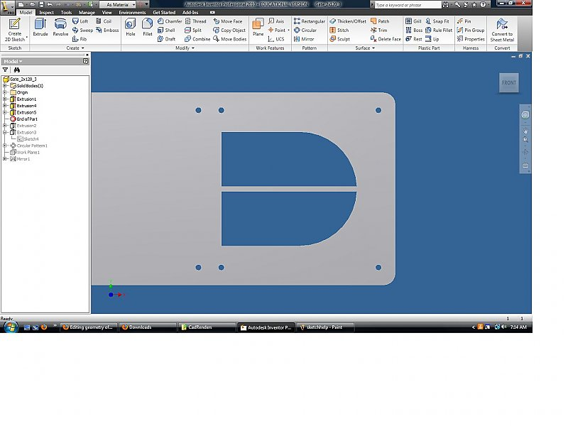 Editing geometry of a pattern - Autodesk Inventor - AutoCAD