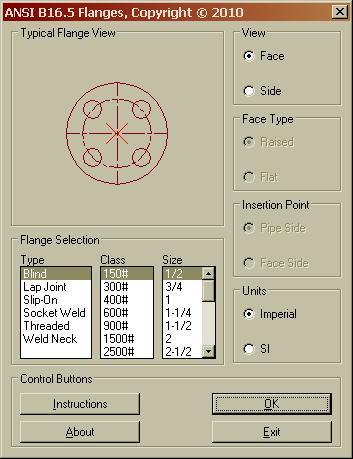 ANSI B16 5 Flanges Lisp - AutoLISP, Visual LISP & DCL - AutoCAD Forums