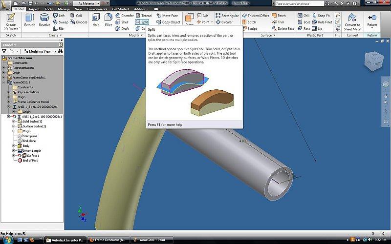 Frame Generator (having problems) - Autodesk Inventor