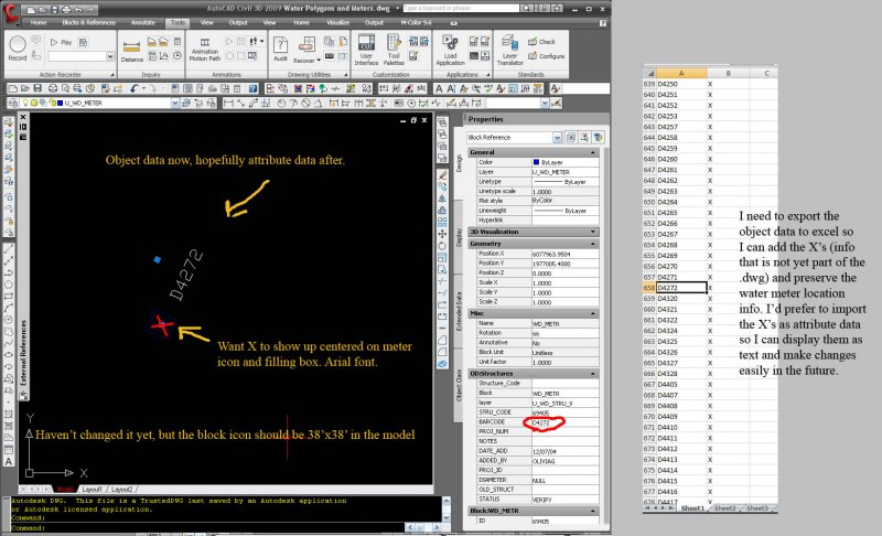 Object Data to Attribute Data to perfection - AutoCAD General