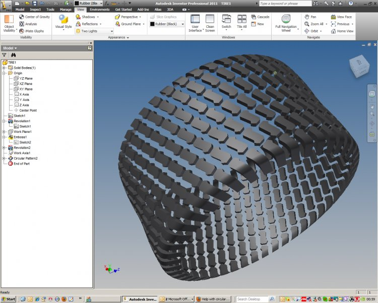 Help with circular pattern - Autodesk Inventor - AutoCAD Forums