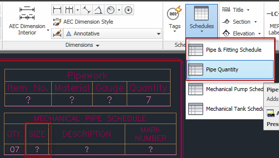 Bill Of Materials and pipe length? - MEP - AutoCAD Forums