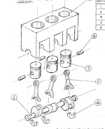 3 Cylinder Crankshaft