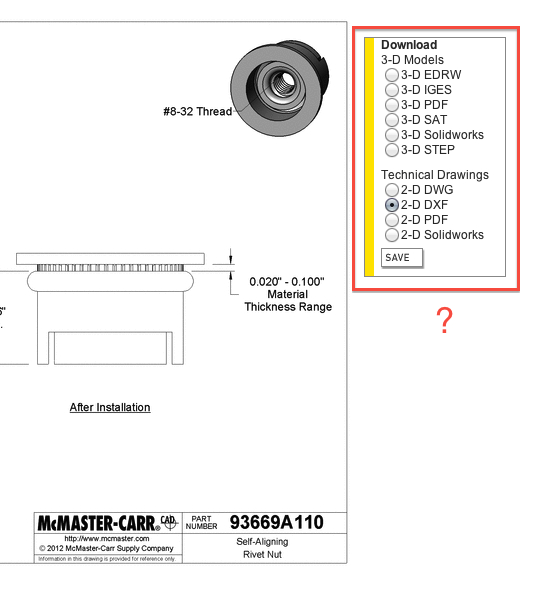 Fastener Library - Blocks, Images, Models & Materials - AutoCAD Forums
