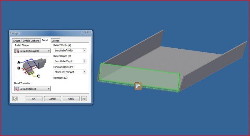 Sheet Metal Angled Flange Problem Autodesk Inventor Autocad Forums