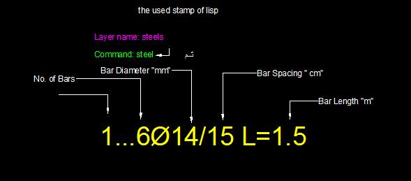 Steel reinforcement bars quantity survey lisp to table - AutoLISP