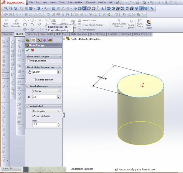 Sheet Metal Cylinder Quot Creating Quot Amp Quot Flatten Quot Question