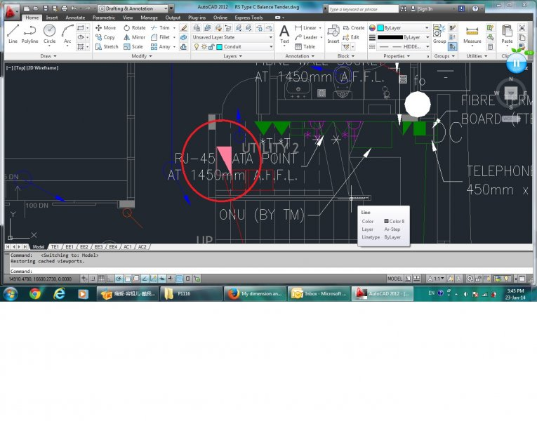 Some of the layers appear in model but missing in layout? - AutoCAD