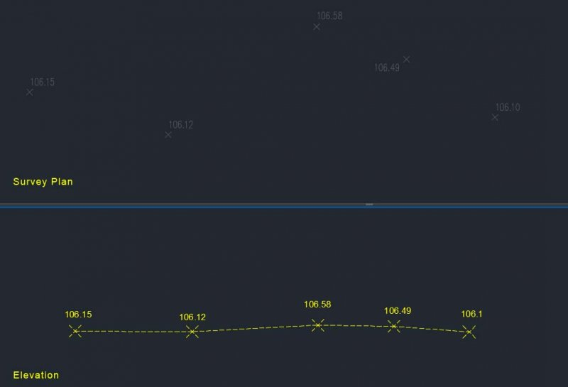 Lisp to draw existing level Line on elevation - AutoLISP