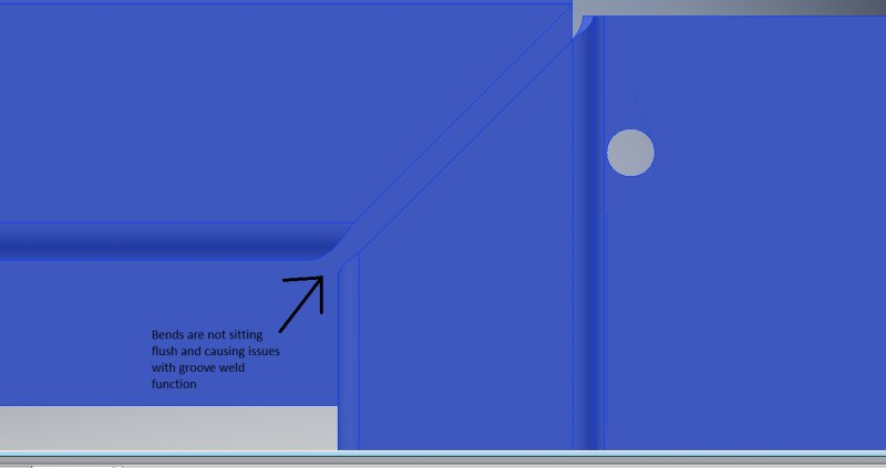 Issue with bends and flanges  - Autodesk Inventor - AutoCAD