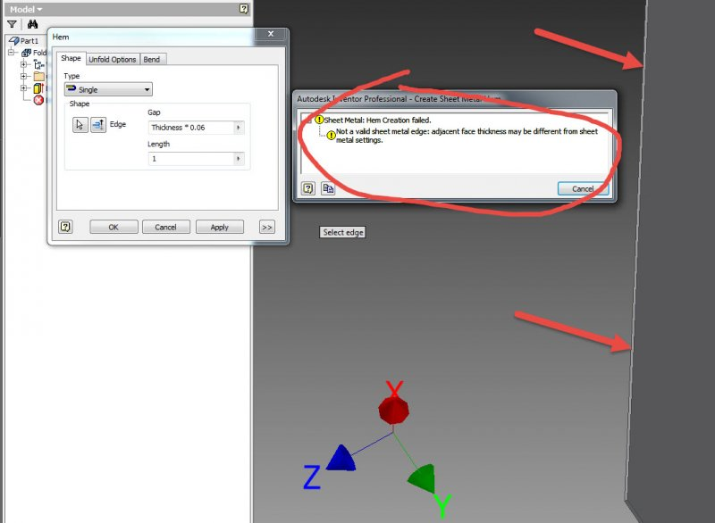 Strange How To Bend This Sharp Edge Ss Sheet Metal Autodesk Download Free Architecture Designs Lukepmadebymaigaardcom