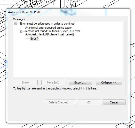 Revit Error - 'Autodesk Revit DB Level' - Revit MEP - AutoCAD Forums