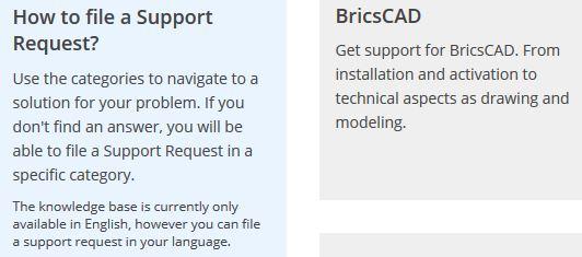 Bricscad support.JPG