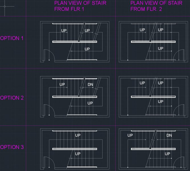 Drawing Stairs in Plan: Cut Lines, Dashed Lines, & Showing