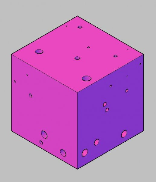 Cube with random holes located randomly.jpg