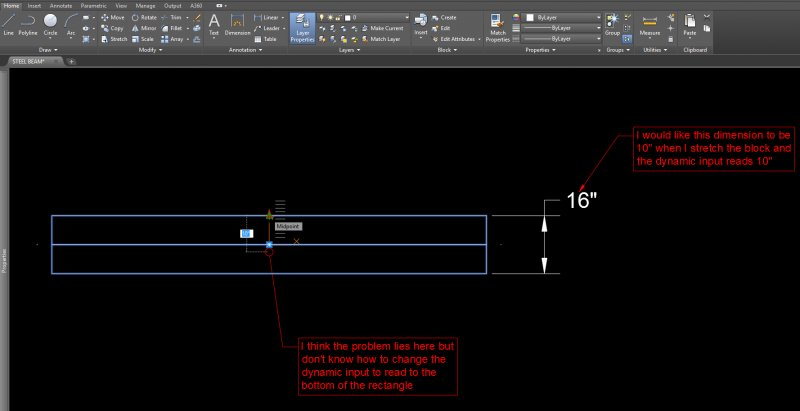 Setting up increments or distance in a Dynamic block - AutoCAD