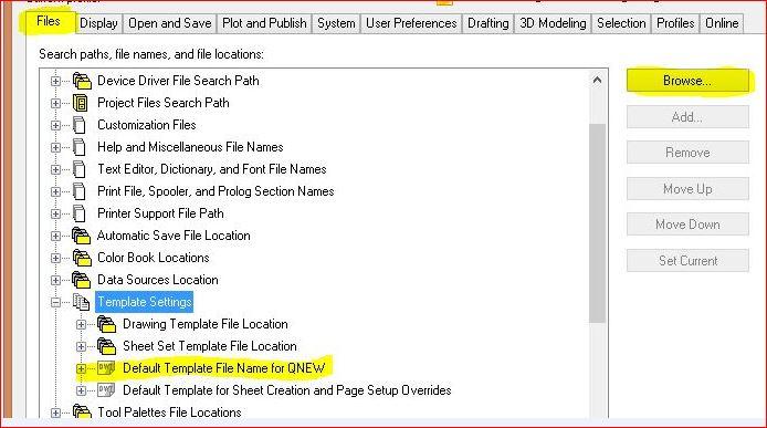 Settinga the default QNEW template.JPG