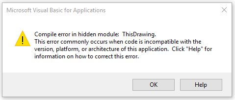 Compile error in hidden module: ThisDrawing - AutoCAD Bugs
