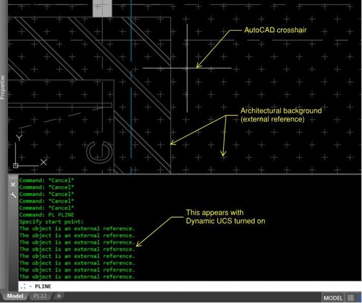 AutoCAD MEP 2018 - Dynamic UCS - AutoCAD Bugs, Error