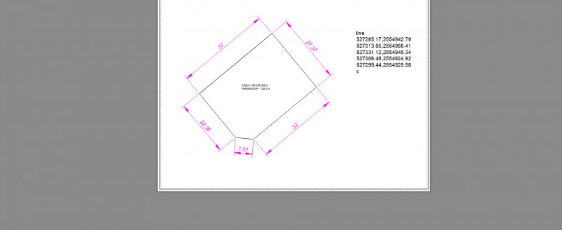Drawing Site Plan in Autocad 2D using Northing and Easting value