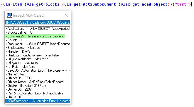 SSGET - BLOCK, then Search Descriptions - AutoLISP, Visual