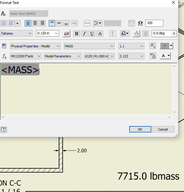 Formatting Output of Mass - Autodesk Inventor - AutoCAD Forums